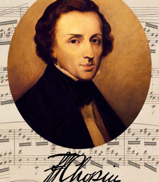 pocztówka - portret Fryderyka Chopina