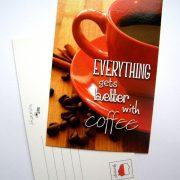 pocztówka - kawa z cynamonem