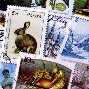 pocztówka - polskie znaczki pocztowe