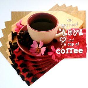 pocztówka, pocztówki, kawa, kwiaty, cytaty