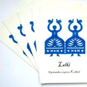pocztówka, folklor, wycinanki, lalki, kołbiel