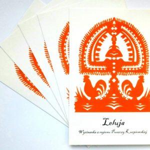 pocztówki, wycinanka, folklor, leluja, kurpie