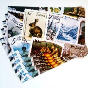 pocztówka, znaczki, poczta