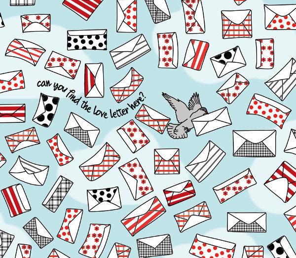 pocztówka czy znajdziesz list miłosny